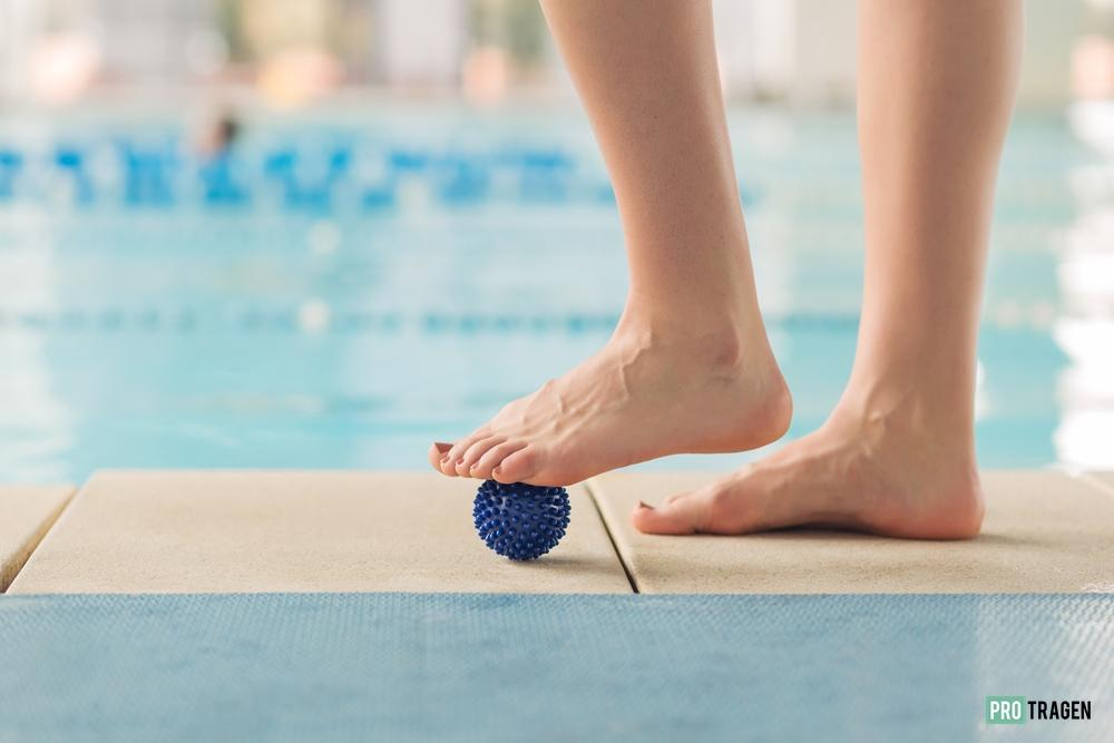 Foot Exercises by the pool